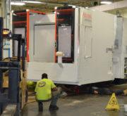 New Mazak Machine being moved