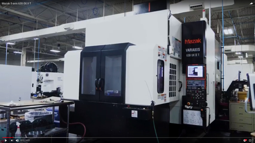Mazak Variaxis machine
